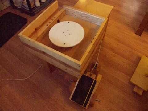 How to build / make an adjustable speed electric home made potters / pottery wheel