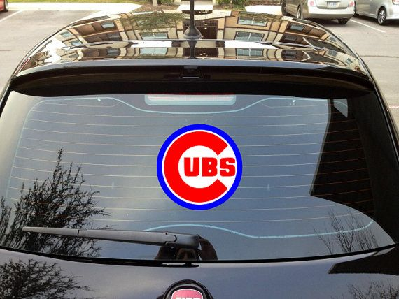 Best Cars For Chicago Cubs Fans Images On Pinterest Chicago - Window stickers for cars chicago