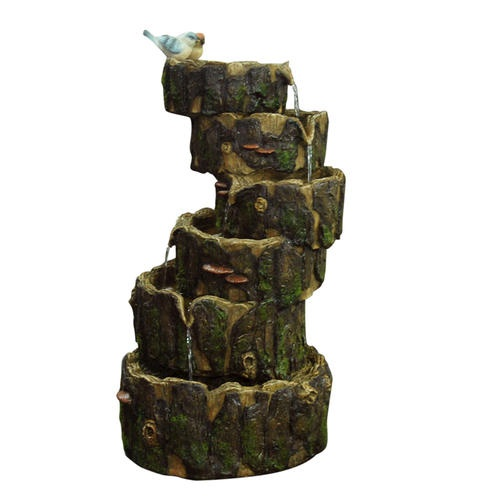 29 Stacked Log Fountain At Menards In The Yard Pinterest Logs Ponds And Outdoors