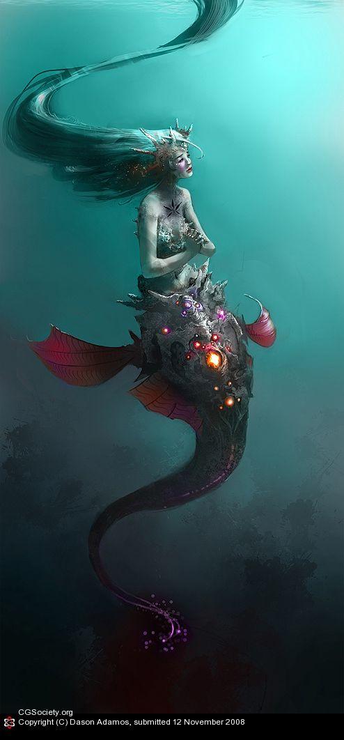 mermaid http://www.beautifullife.info/graphic-design/mermaids-in-fantasies-of-various-artists/