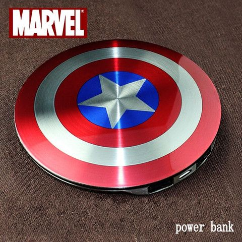 Avengers Captain America Charger Power Bank - 210 Kreations  - 1