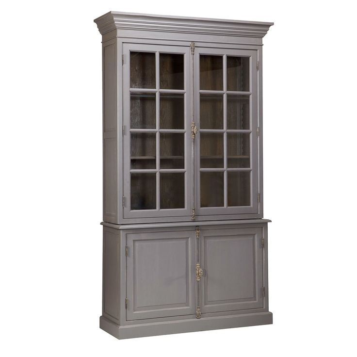 Classic Grey Glass Front Cabinet   Display Cabinet In My Library