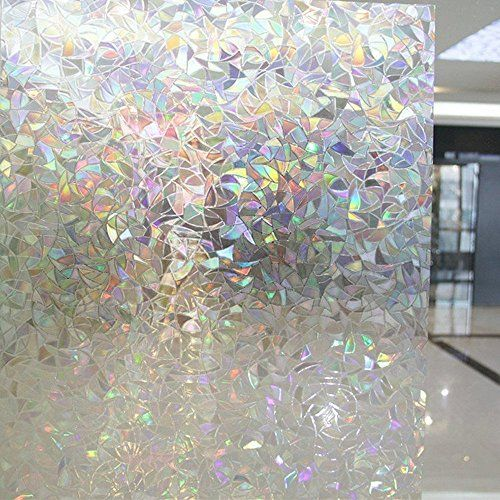 OstepDecor 24-by-78.7-Inch Rainbow No-Glue 3D Static Deco...