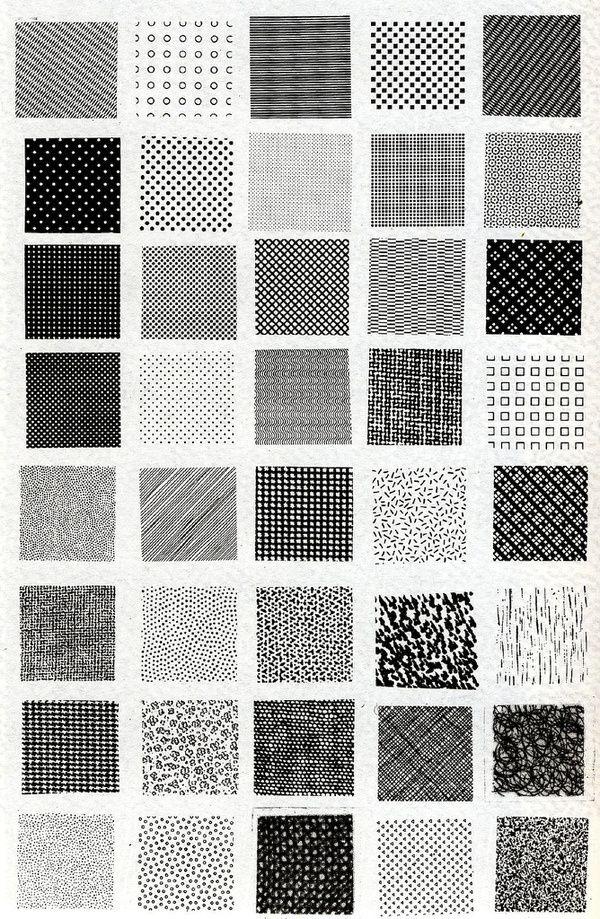 Bruno Munari, esempi di textures !