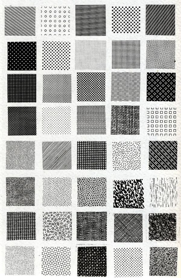 Bruno Munari, esempi di textures | Flickr Photo Sharing! in Typography/pattern