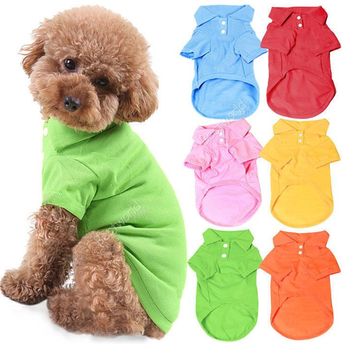 Cheap t-shirt dc, Buy Quality t-shirt sequin directly from China t-shirt ink Suppliers: Pet Dog Cat Puppy Polo T-Shirts Suit Clothes Outfit Apparel Coats Tops Clothing Size XS S M L XL Free shipping&DropS