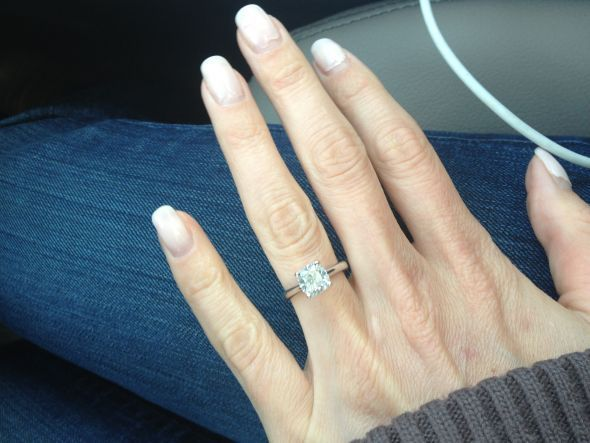 Cushion Cut Engagement Rings - POST YOURS!! « Weddingbee Boards - page 2