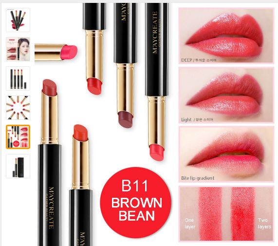 Makeup lipstick Set MayCreat Original Lipstick Matte Sexy Long Lasting Waterproof Flower Matte  Lipstick Pencils Moisturizer Lips Makeup lipstick Set
