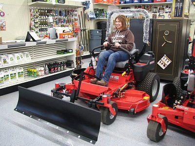 Zero Turn snow plows, blades for zero turn radius mowers by Country Zero Turn Equipment.