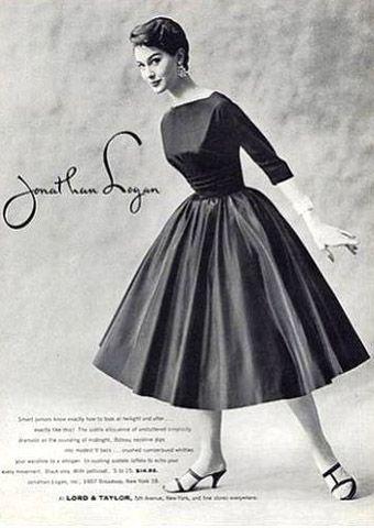мода 50 х годов фото платья и прически: 20 тыс изображений ...