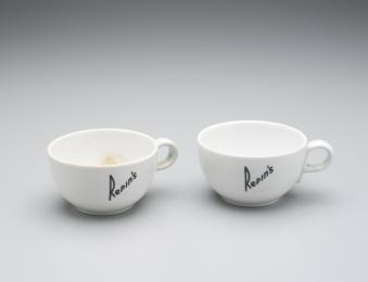 2007/106/9 Coffee cups (2), porcelain, used by Repins Coffee Inn, Sydney, New South Wales, Australia, 1939-1970, made by Hutschenreuther Selb, Bavaria, Germany, 1939-1964 - Powerhouse Museum Collection