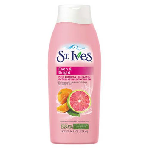 Best Exfoliating Body Wash for Women: St. Ives Even & Bright Body Wash (3-Pack)