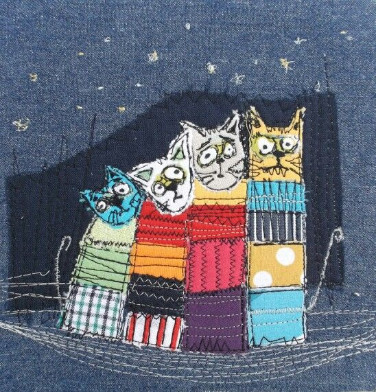 Marieta Stefanova | Cats | Free style embroidery | https://m.facebook.com/Artelie5/?ref=bookmarks