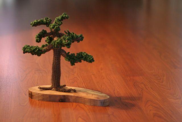 crochet bonsai tree!