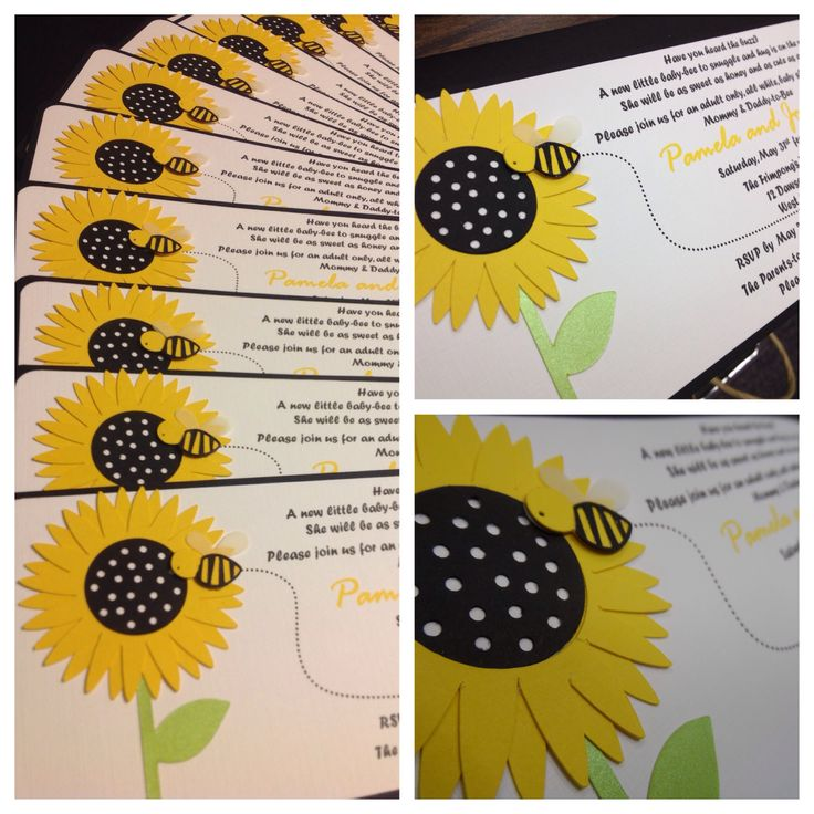 25 best Sunflower and Polka-dotted Baby Shower images on Pinterest ...