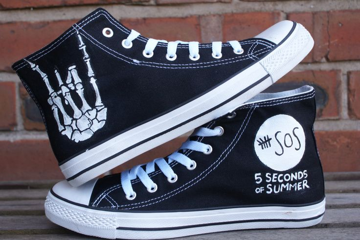 5 Seconds Of Summer 5 sos  hand painted canvas high tops, made to order. by Eleanorsplace on Etsy https://www.etsy.com/listing/229070265/5-seconds-of-summer-5-sos-hand-painted