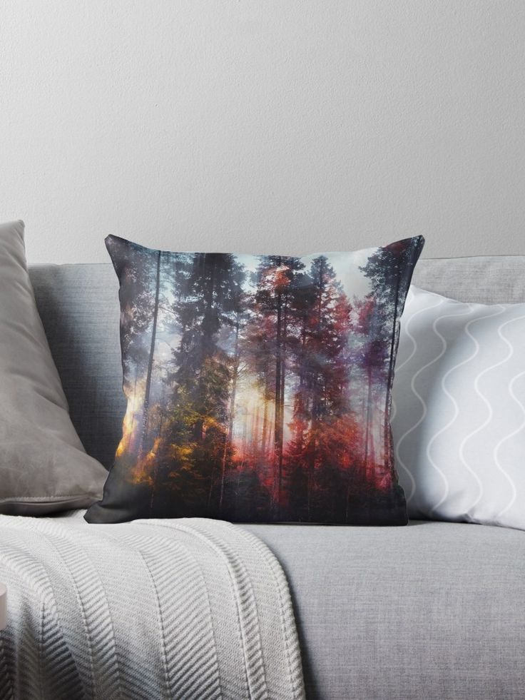 'Warm fuzzy feelings' Throw Pillow by HappyMelvin. #homedecor #nature #original #photography #wanderlust #pillow