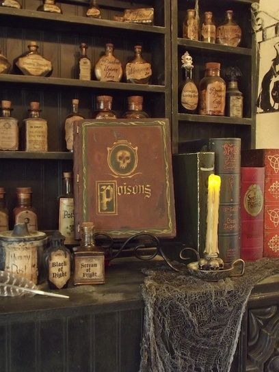 25 best ideas about halloween potion bottles on pinterest for Pagan decorations for the home