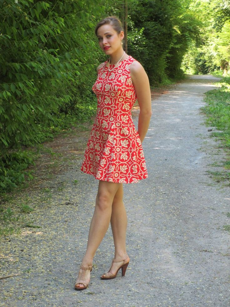 1960 Wilson Folmar Red Fit y Flare Mini Vestido Etsy in