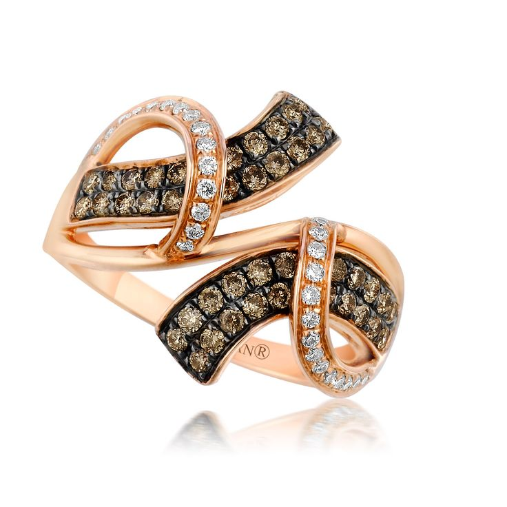 Coming this fall…Le  Vian Chocolatier™ Saddle Up™ ring (SUXW 67) with Chocolate Diamonds® and Vanilla Diamonds® in Strawberry Gold®.