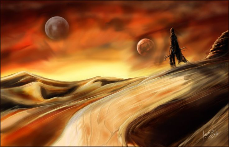 """Arrakis (pronounced /əˈrækɨs/;[1] Arabic: الراقص, ar-rāqiṣ, """"the dancer"""") — informally known as Dune and later called Rakis — is a fictional desert planet featured in the Dune series of novels by Frank Herbert. Herbert's first novel in the series, 1965's Dune, is popularly considered one of the greatest science fiction novels of all time, and it is sometimes cited as the best-selling science fiction novel in history."""