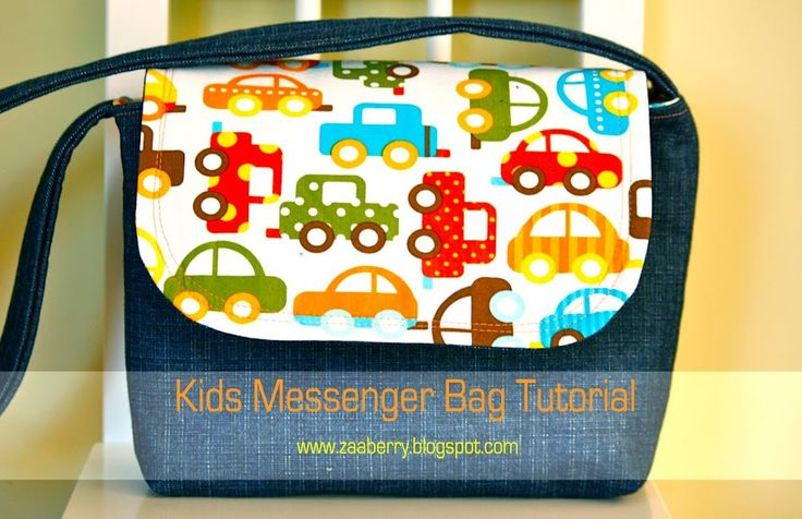 Kids' Messenger Bag - Made this as a mini cross body bag for me - added pockets and lengthened the strap