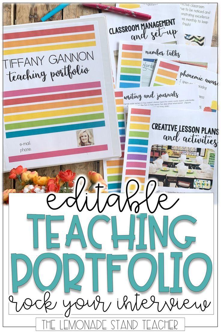 Stand Out in a Teacher Interview Teacher Portfolios