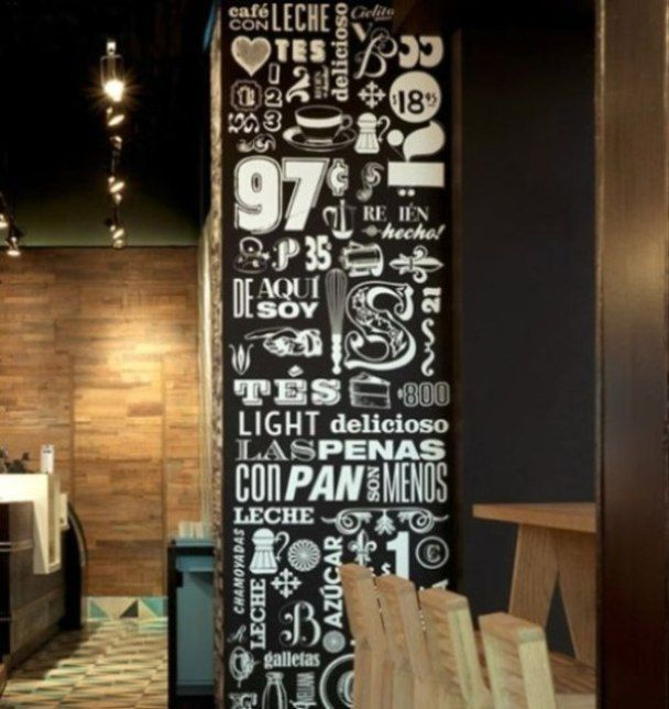coffee shop wall banner interior
