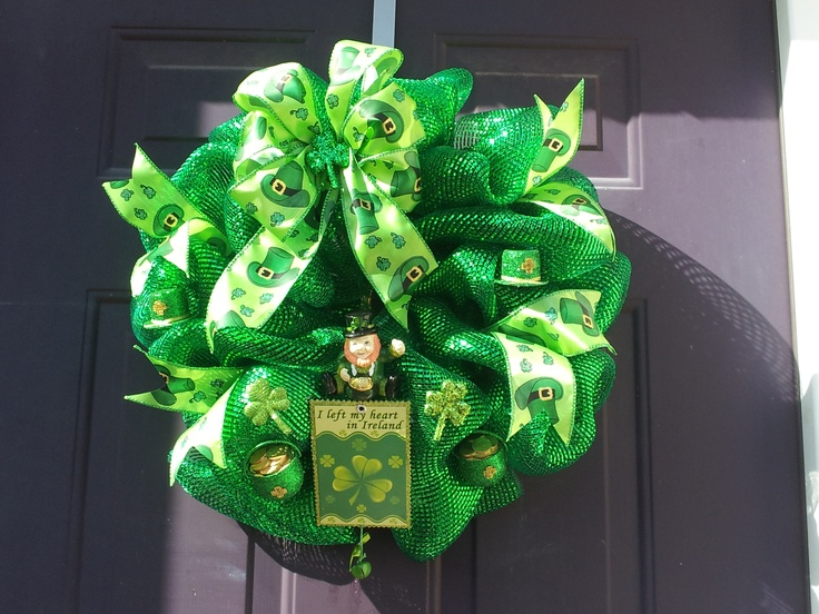 St. Patrick's Day Geo Mesh Wreath