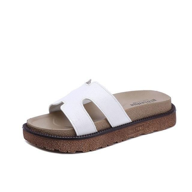 PHYANIC 2018 Fashion Summer Slippers White Black F…