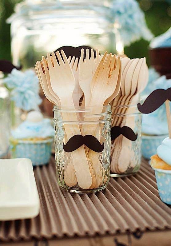 Cute idea - maybe do a mustache for a boy   and a bow for a girl?