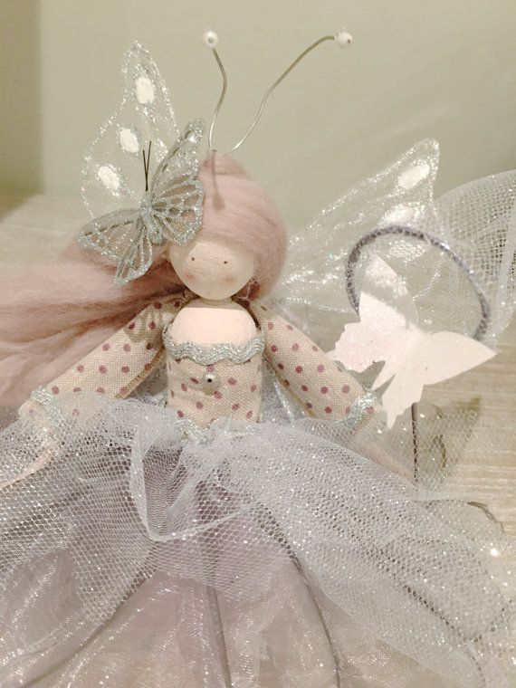 Whimsey Seated Fairy Catching Butterflies by FabulousFairyFactory