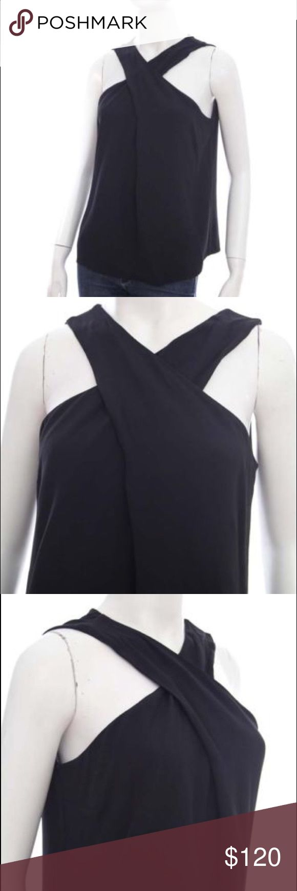 A.L.C Black Cross Neck Sleeveless Top NWT NWT ALC top that is in a great condition. It's in size 4 and was a little big for me. Great for a night out! A.L.C. Tops Blouses