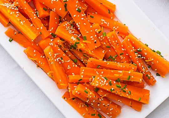 Honey and Orange Glazed Carrots