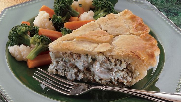 Classic stroganoff gets a twist when prepared in a pastry shell with a crown of crisp pastry cutouts on top.