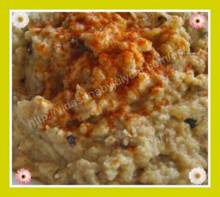 Recetas Dukan By Julycar: Hummus de Berenjenas http://recetasdukanbyjulycar.blogspot.com.es/2016/04/hummus-de-berenjenas.html