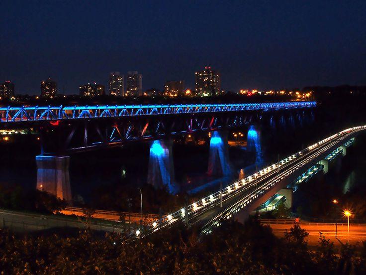 The High Level Bridge in Edmonton, Alberta, seen from Constable Ezio Faraone Park.