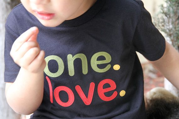 ONE. LOVE. Toddler Boy Girl Rasta shirt Toddler Reggae tshirt
