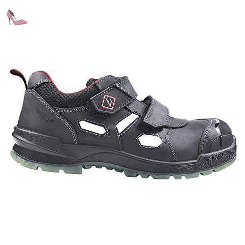 San-Chef Slipper-S2, Chaussures de Sécurité Mixte Adulte, Noir-Schwarz (Black 2), 45 EUSanita