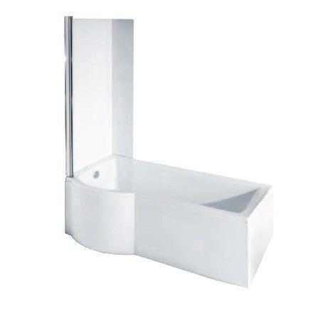 Rechteck Badewanne Inspiro 150x70 cm Links Duschbadewanne + Schürze + Duschwand - Duschbadewannen | Kombiwannen - Badewannen - Bad & Küche | Bestshop24.eu