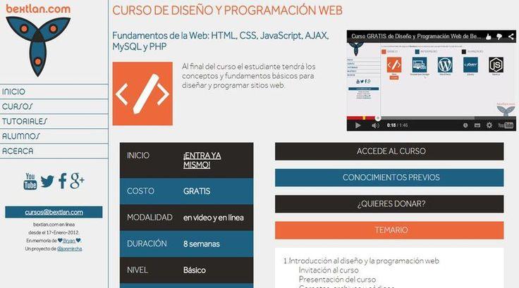 Curso gratuito y en español de Diseño y Programación Web para principiantes. Con los fundamentos de HTML, JavaScript, Ajax, PHP, MySQL y CSS.