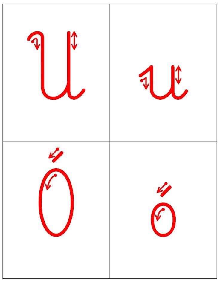Kierunek kreślenia liter - trudności ortograficzne oraz ę i ą: U, u Ó, ó H, h Ch, ch Ż, ż Rz, rz ę , ą