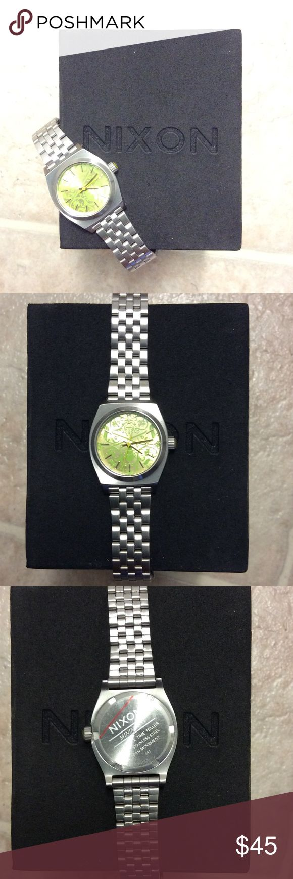 Nixon Women's small time teller watch Cute Nixon watch I've never worn. Comes with original box. Will make an awesome present 😍😍😍😍😍😍😍😍😍 Nixon Accessories Watches