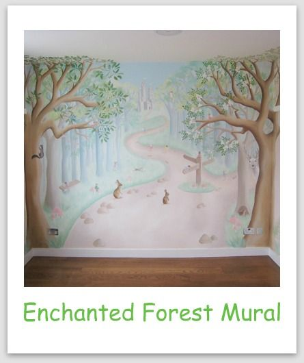 Enchanted forest murals enchanted forest mural luxury for Fairy mural ideas