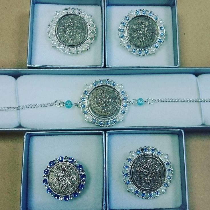 These sixpence shoe clips and anklet are now all on their way to bring some luck! #luckysixpence #shoeclip #anklet #somethingblue #somethingold #sixpenceforyourshoe