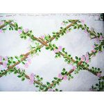 Image 1 VINTAGE FRENCH - ROSE TRELLIS FABRIC - SUZANNE FONTAN