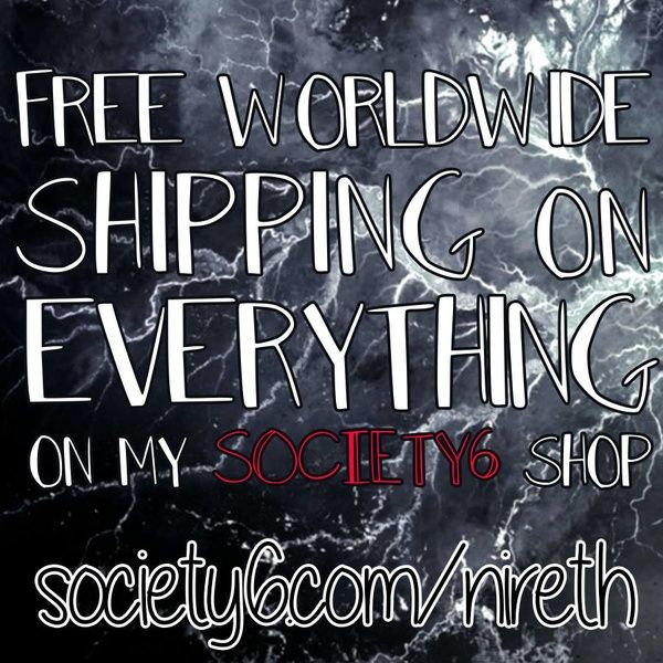 FREE WORLDWIDE SHIPPING on EVERYTHING on my Society6 shop!  https://society6.com/nireth  https://society6.com/puddingshades  #society6 #art #design #freeshipping #offer #shop #shopping #duvets #totebag #phonecase #cover #pillow #blanket #tshirt #tee #towel #leggings #rug #walltapestry #nireth