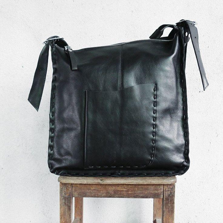 Genuine Soft Leather Women Pocket Shoulder Bag