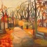 Droga na Wawel, Majka Wójtowicz, akryl i pastela