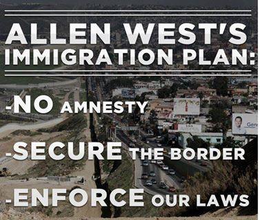 Allen West's Immigration Plan liberty Alan West is best!--I LOVE Allen West--EA